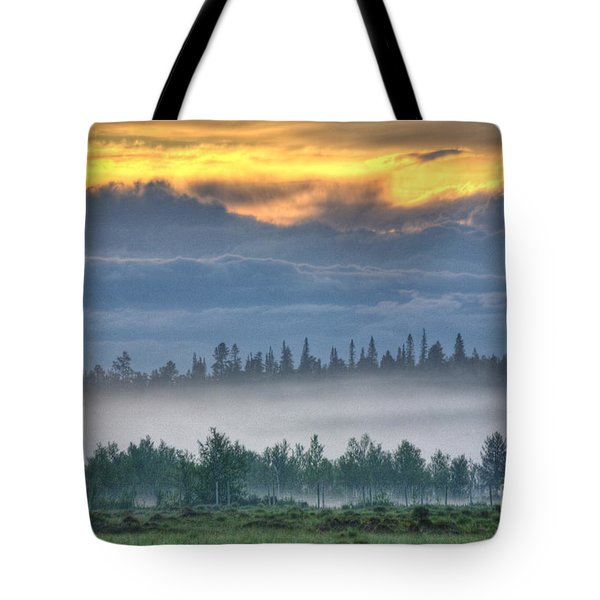 Mid Summer Night's  Fog Tote Bag by Heiko Koehrer-Wagner