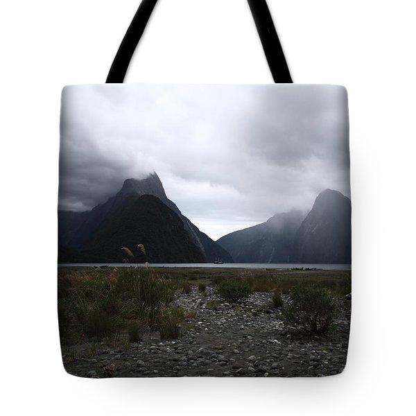 Milford Sound Tote Bag by Pixel Chimp