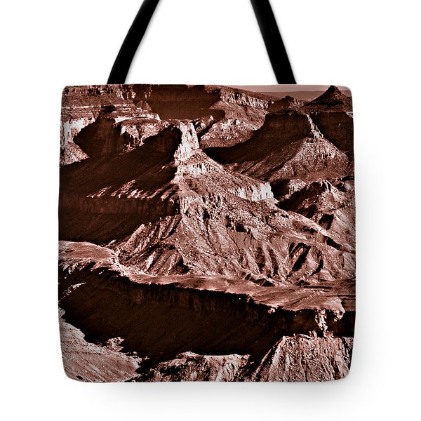 Milk Chocolate Mountains Tote Bag by Bob and Nadine Johnston