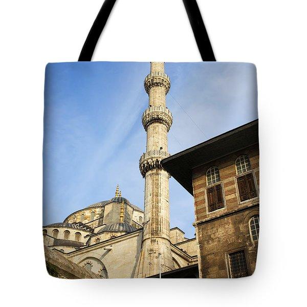 Minaret Of The Blue Mosque Tote Bag by Artur Bogacki