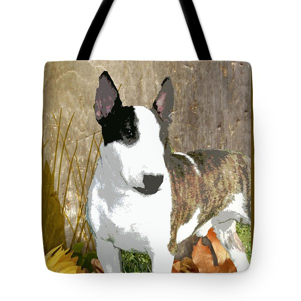 Minature Bull Terrier Tote Bag by One Rude Dawg Orcutt