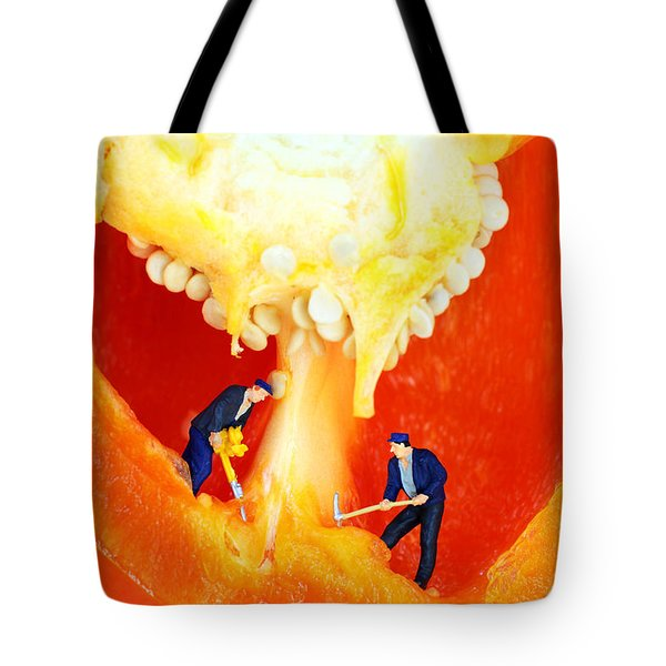 Mining In Colorful Peppers II Tote Bag by Paul Ge