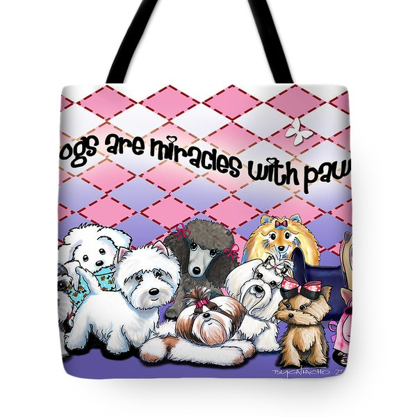 Miracles With Paws Tote Bag by Catia Cho