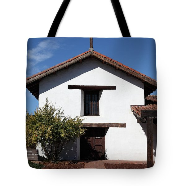 Mission Francisco Solano - Downtown Sonoma California - 5D19296 Tote Bag by Wingsdomain Art and Photography