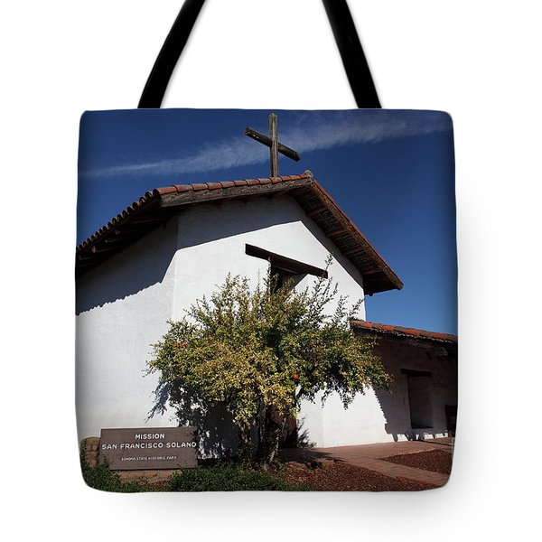 Mission Francisco Solano - Downtown Sonoma California - 5D19298 Tote Bag by Wingsdomain Art and Photography