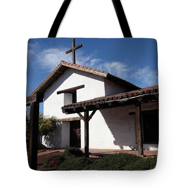 Mission Francisco Solano - Downtown Sonoma California - 5d19300 Tote Bag by Wingsdomain Art and Photography