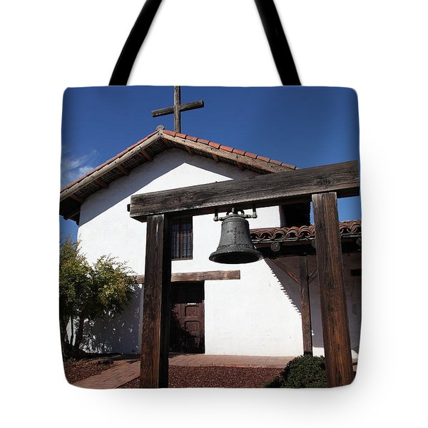 Mission Francisco Solano - Downtown Sonoma California - 5D19301 Tote Bag by Wingsdomain Art and Photography
