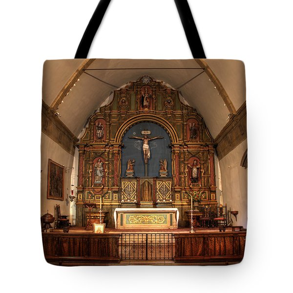 Mission San Carlos Borromeo De Carmelo  11 Tote Bag by Bob Christopher