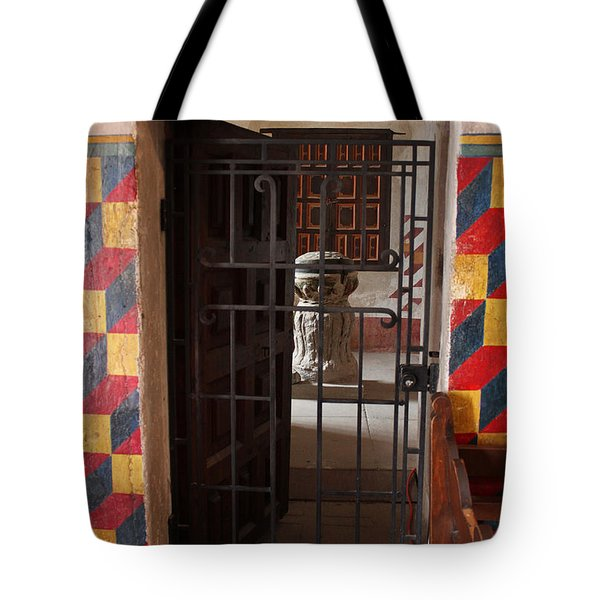Mission San Xavier Del Bac - Inner Sanctuary Tote Bag by Suzanne Gaff