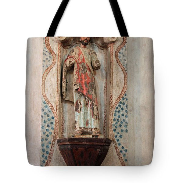 Mission San Xavier del Bac - Interior Sculpture Tote Bag by Suzanne Gaff