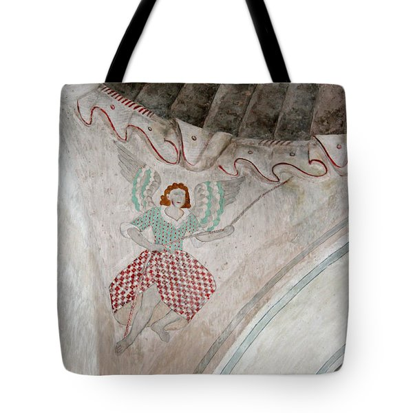 Mission San Xavier Del Bac - Painting Detail Tote Bag by Suzanne Gaff