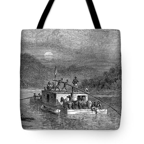Missouri River: Flatboat Tote Bag by Granger