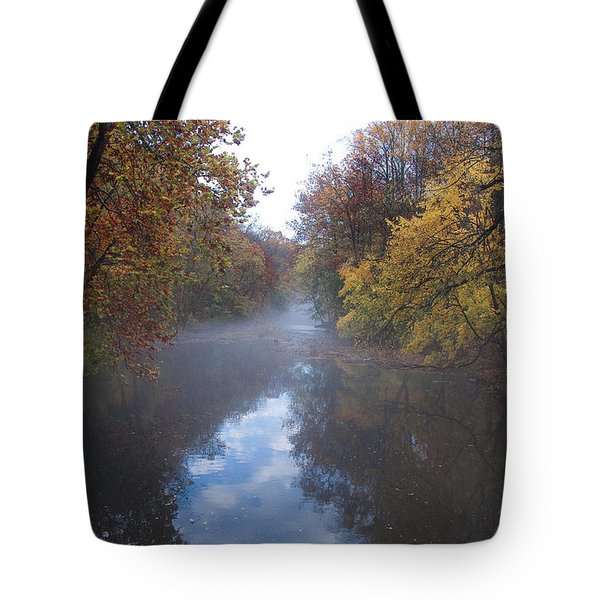 Mist Along The Wissahickon Tote Bag by Bill Cannon
