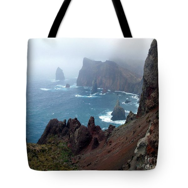 Misty Cliffs Tote Bag by John Chatterley