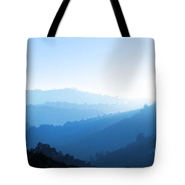 Misty Valley Tote Bag by Carlos Caetano