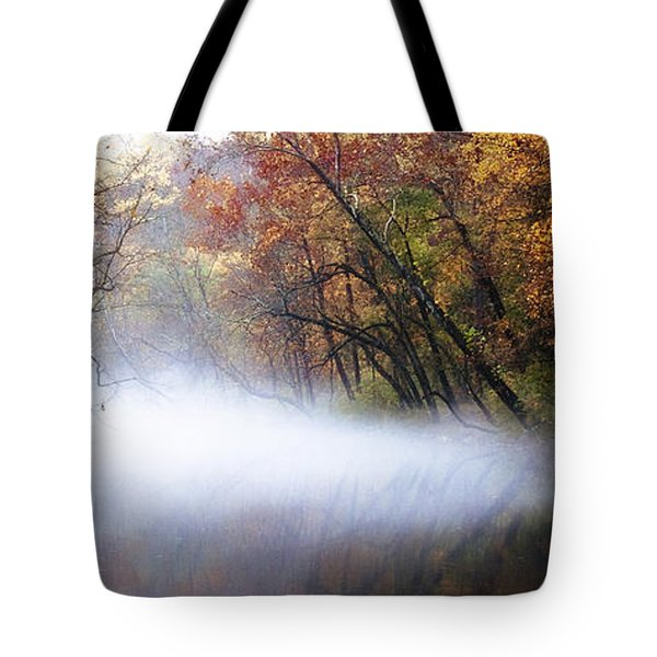 Misty Wissahickon Creek Tote Bag by Bill Cannon
