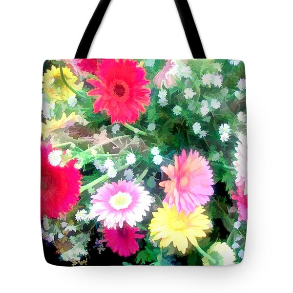 Mixed Asters Tote Bag by Elaine Plesser