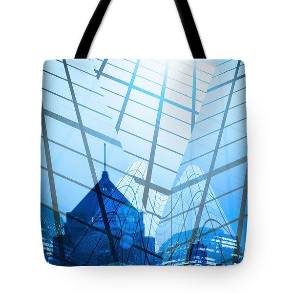Modern City Tote Bag by Setsiri Silapasuwanchai