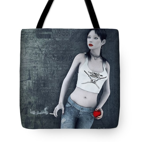 Modern Snow White Tote Bag by Jutta Maria Pusl
