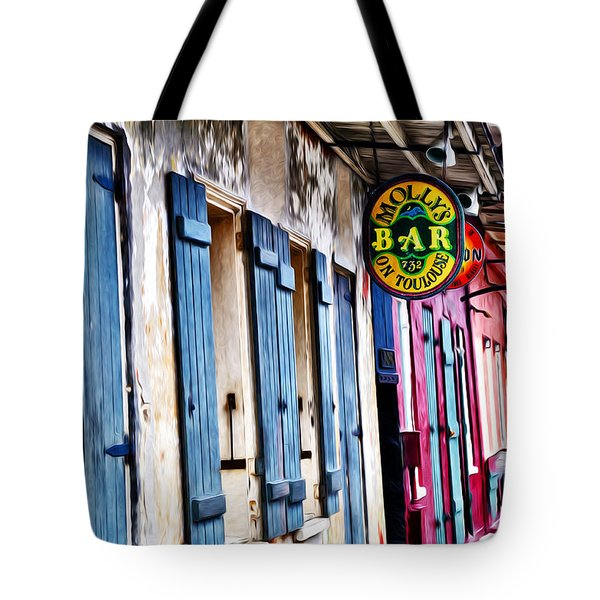 Molly's Bar On Toulouse Tote Bag by Bill Cannon
