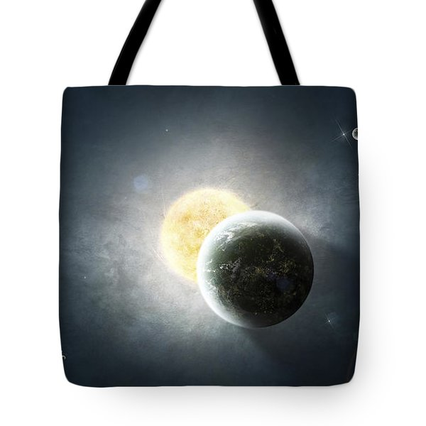 Moments Before A Total Eclipse Tote Bag by Tomasz Dabrowski