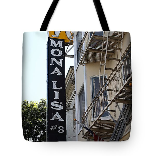 Mona Lisa Restaurant In North Beach San Francisco Tote Bag by Wingsdomain Art and Photography