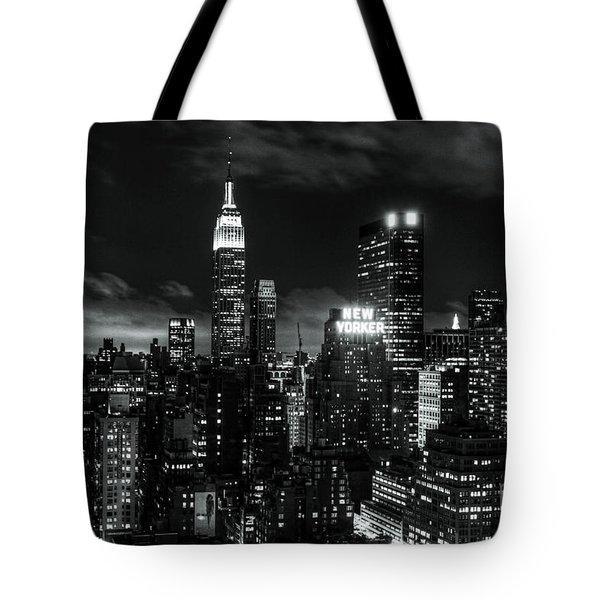 Monochrome City Tote Bag by Andrew Paranavitana