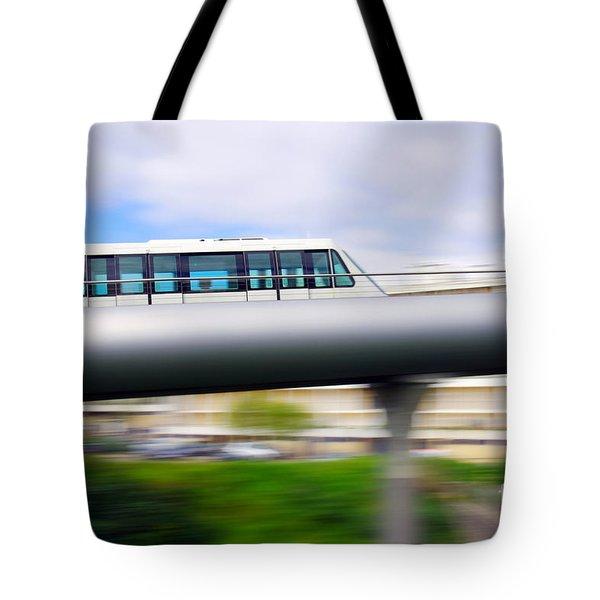 Monorail Carriage Tote Bag by Carlos Caetano