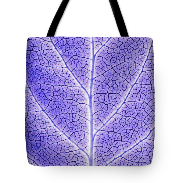 Monotone Close Up Of Leaf Tote Bag by Sean White