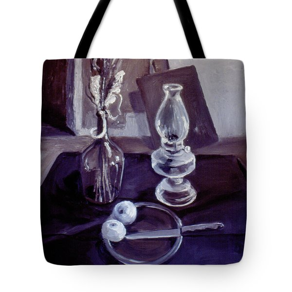 Monotone Still Life 1977 Tote Bag by Nancy Griswold