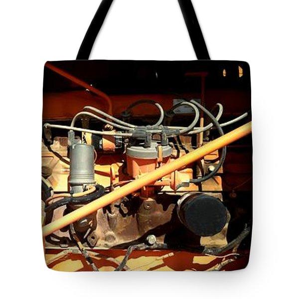 MONSTER MACHINE Tote Bag by Marlene Burns