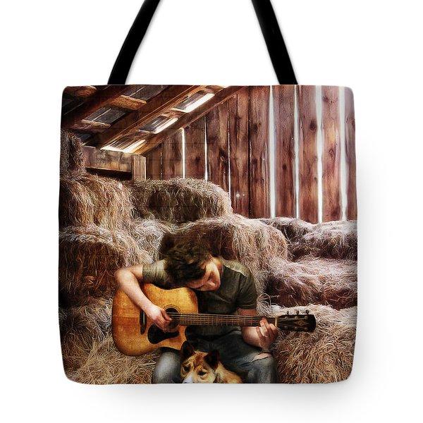 Montana Boy Tote Bag by Shawna Mac