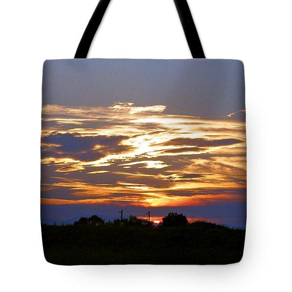 Montana Sunset Tote Bag by Susan Kinney