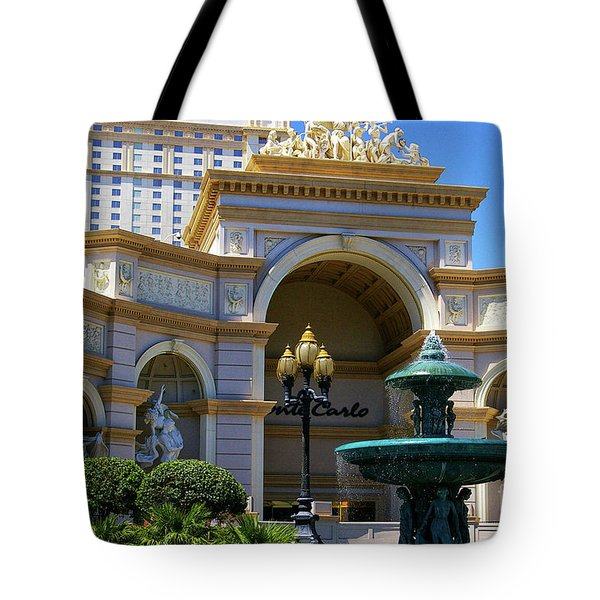 Monte Carlo Casino Resort Tote Bag by Mariola Bitner
