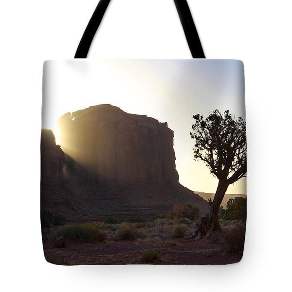 Monument Valley At Sunset Tote Bag by Mike McGlothlen