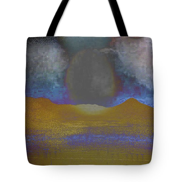 Moon Over Arizona 2 Tote Bag by Lenore Senior and Angela L Walker