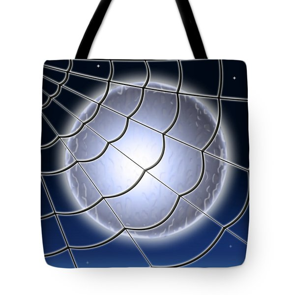 Moonlit Web Tote Bag by Stephen Younts