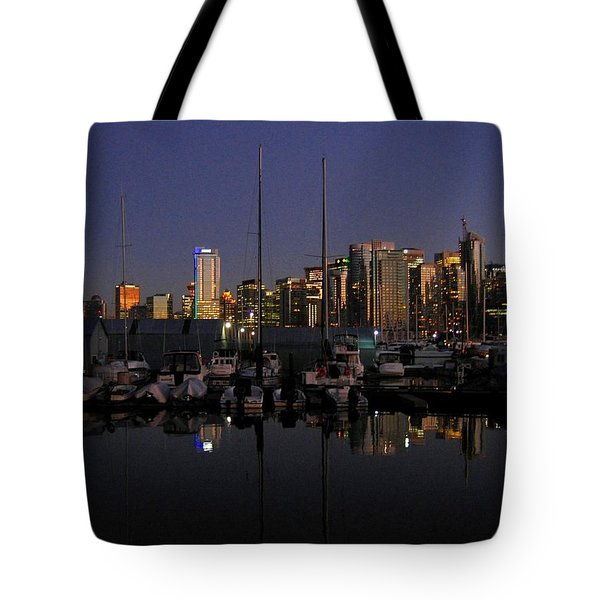Moored For The Night Tote Bag by Will Borden