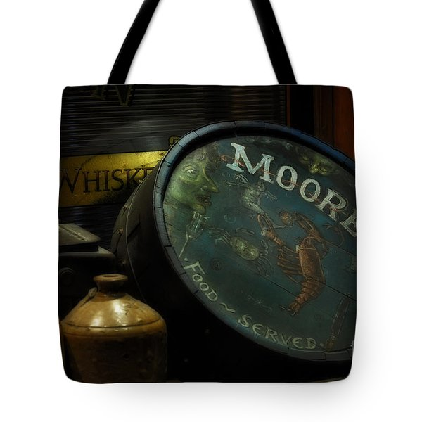 Moore's Tavern After Closing Tote Bag by Mary Machare