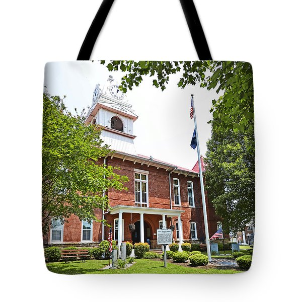 Morgan County Courthouse Tote Bag by Paul Mashburn