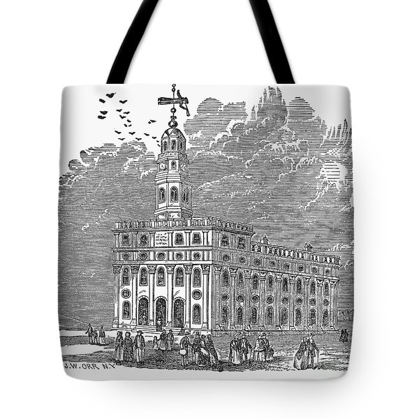 Mormon Temple, Nauvoo Tote Bag by Granger
