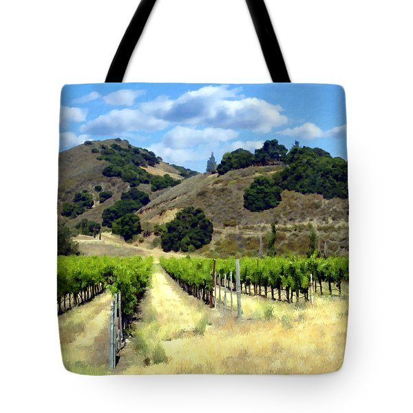 Morning At Mosby Vineyards Tote Bag by Kurt Van Wagner