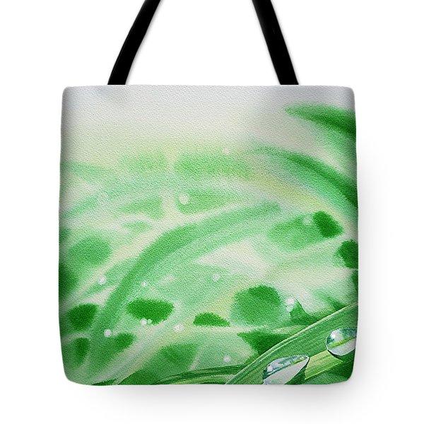 Morning Dew Drops Tote Bag by Irina Sztukowski