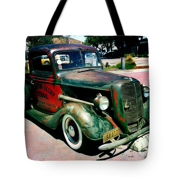 Morning Glory Coal Truck Tote Bag by Nina Prommer