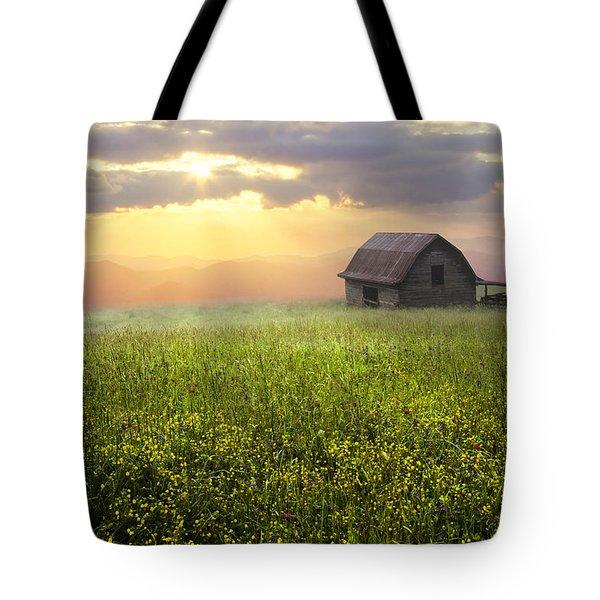Morning Has Broken Tote Bag by Debra and Dave Vanderlaan