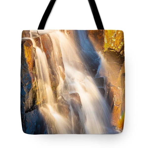Morning Light On Lower Falls Tote Bag by Marc Crumpler