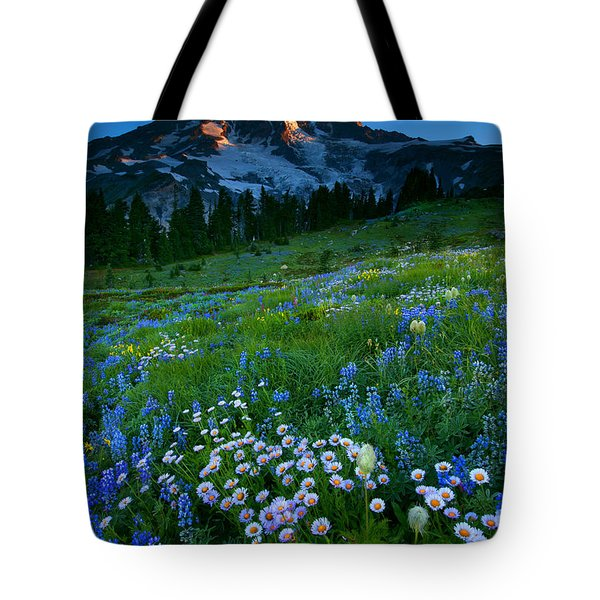 Morning Majesty Tote Bag by Mike  Dawson