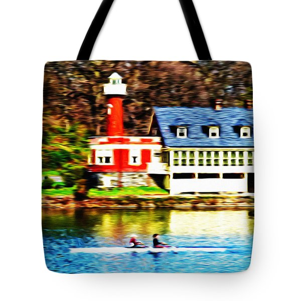 Morning On The Schuylkill River Tote Bag by Bill Cannon