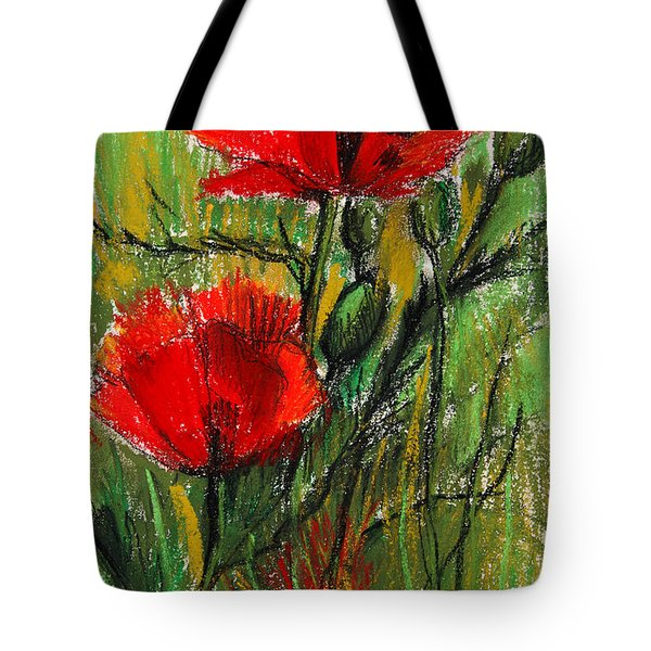 Morning Poppies Tote Bag by Mona Edulesco