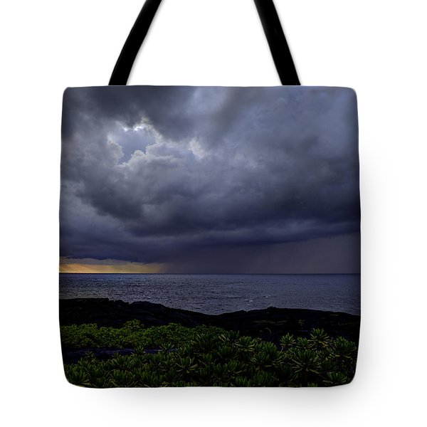 Morning Squall Tote Bag by Mike Herdering
